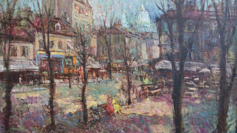 Aleksander Vardi MONTMARTRE ÕHTUL, 1938 (Tartu Kunstimuuseum)