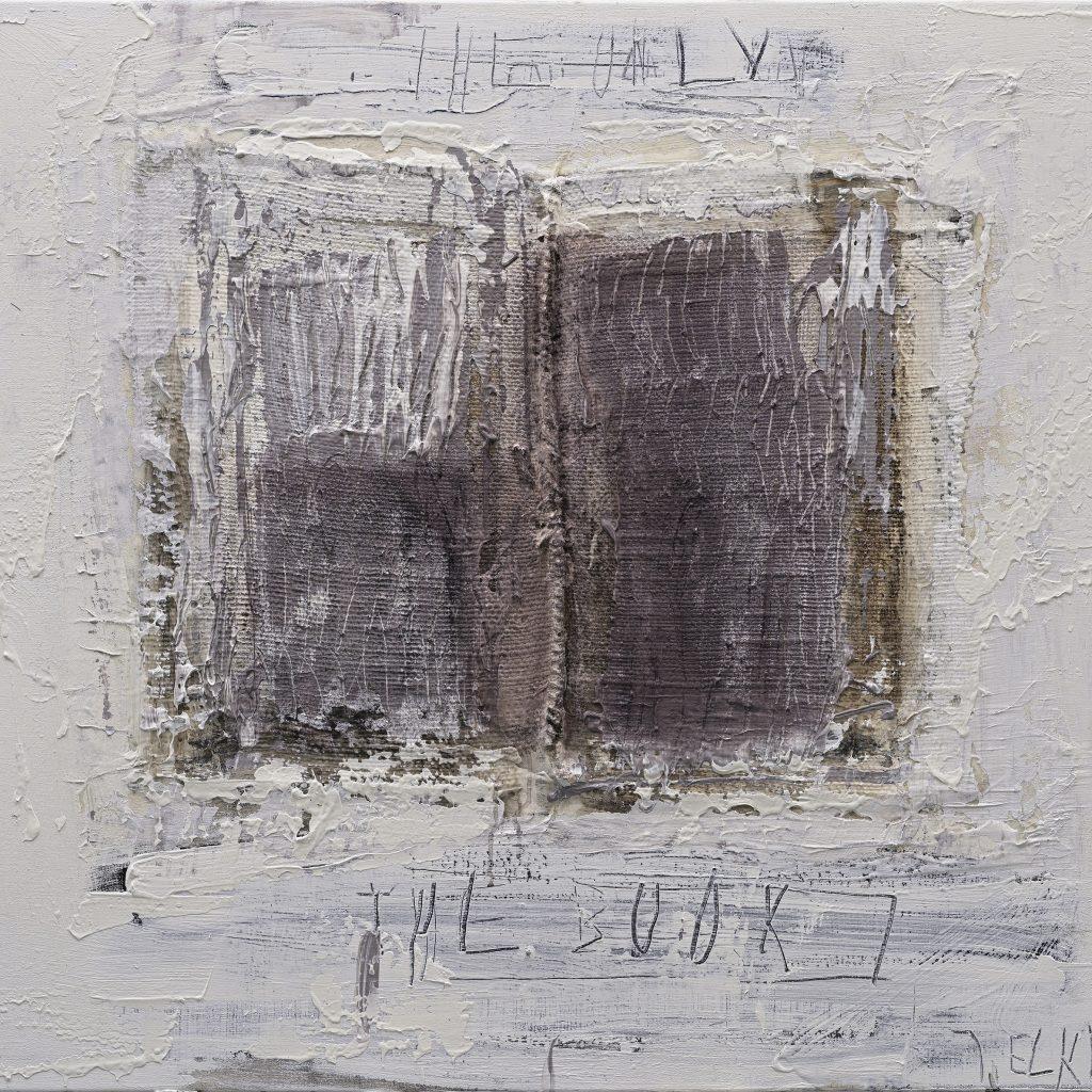 Jaan Elken (1954) RAAMAT, akrüül, kollaaž, lõuend, 2020