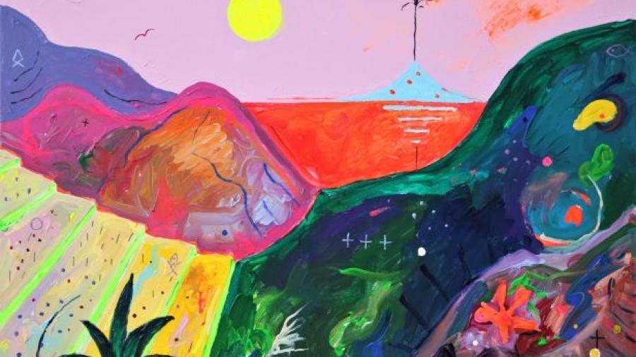 Vilen Künnapu (1948) VULKAAN, akrüül, lõuend, 2020
